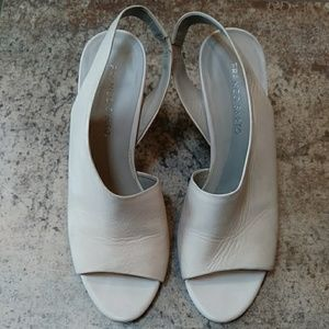 Beautiful leather wedges!